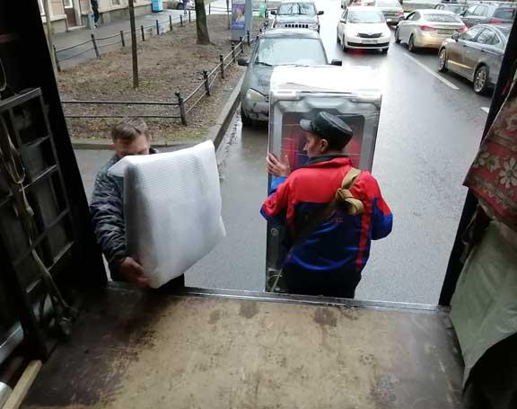 погрузка холодильника